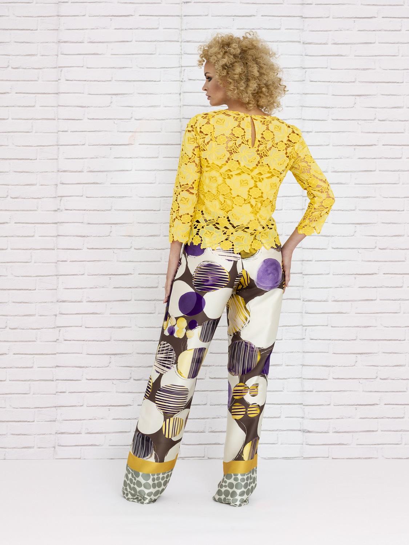 Conjunto pantalón de verano en tonos amarillos 2020