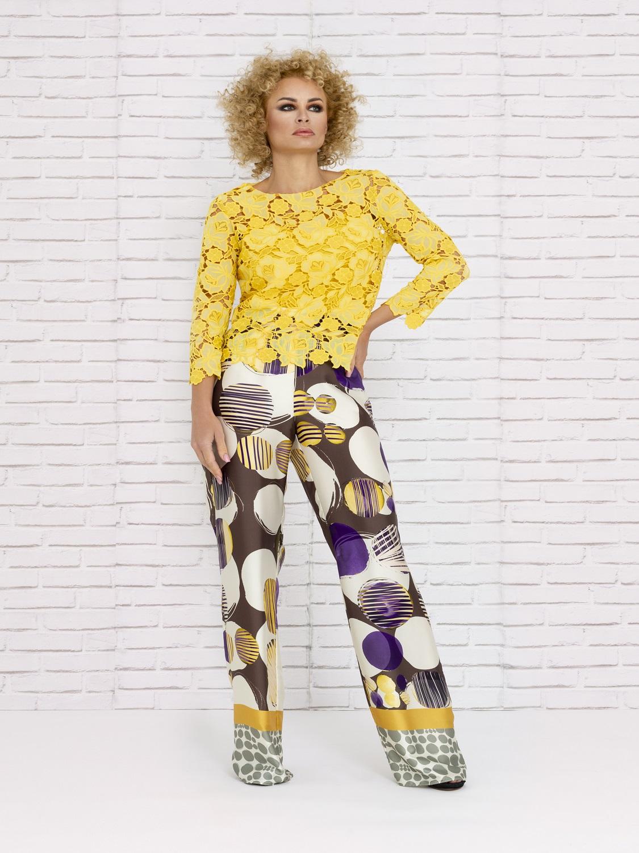 Conjunto pantalón de verano en tonos amarillos