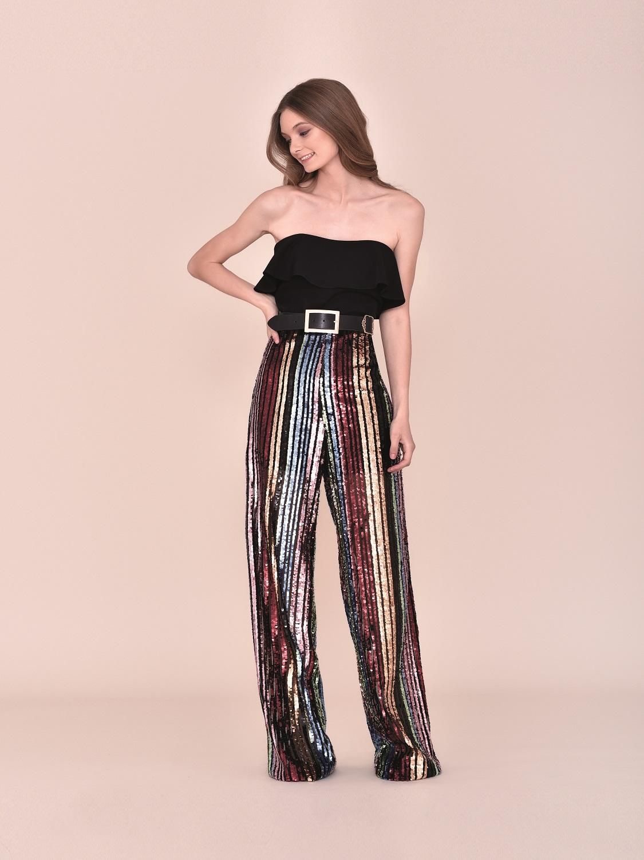 Conjunto pantalón talle alto fiesta 2020