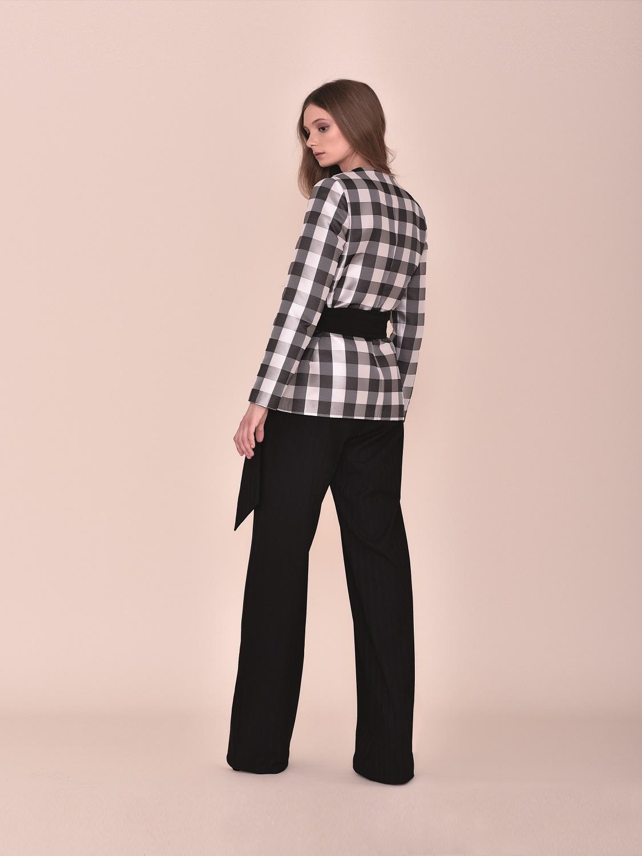 Conjunto pantalón y chaqueta de cuadros negros con cinturón comunión 2020 Style