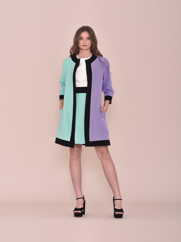 Levita de vestir juvenil tricolor 2020