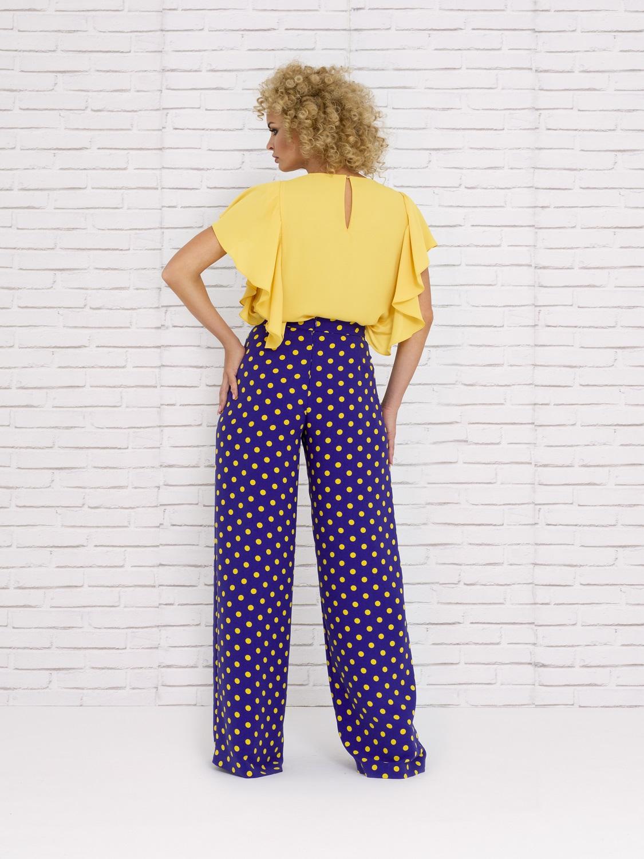 Pantalones de fiesta con lunares primavera 2020