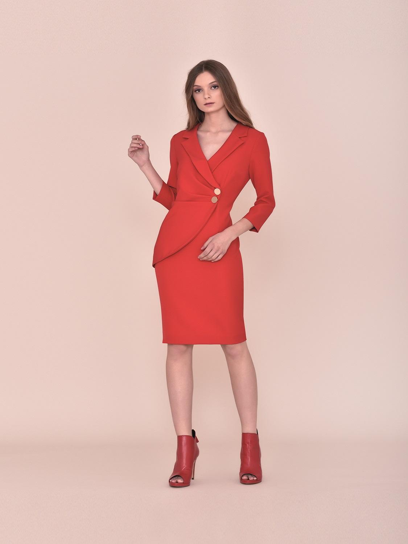 Vestido cóctel en rojo