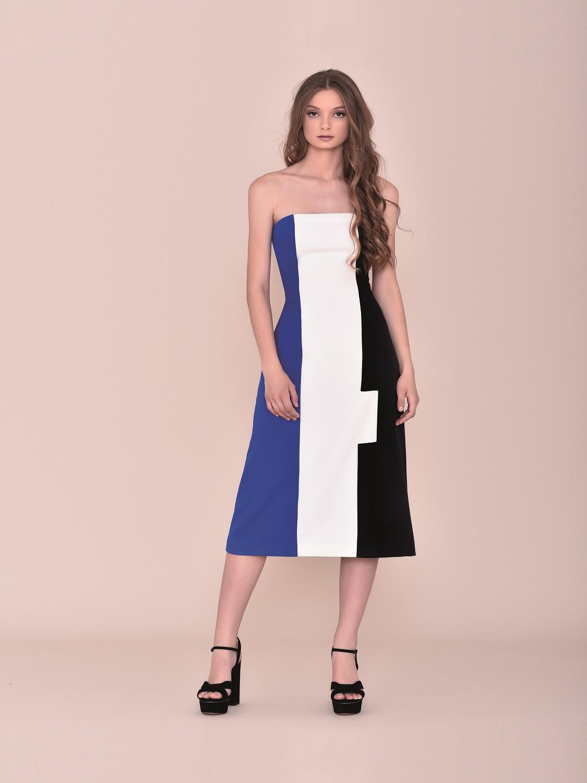 Vestido comunión Style tricolor palabra de honor 2020