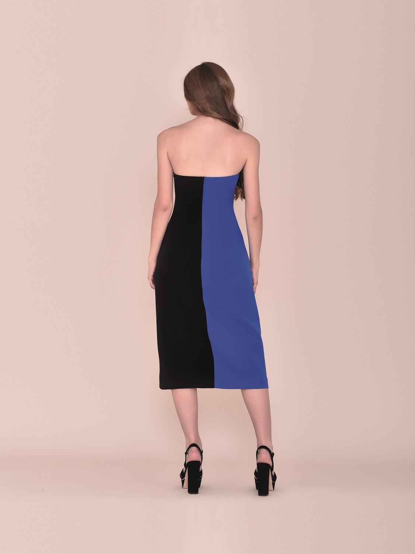 Vestido comunión Style tricolor palabra de honor 2020 espalda bicolor