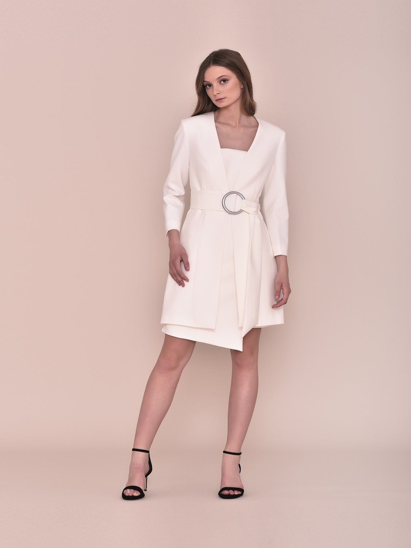 Vestido corto blanco fiesta 2020