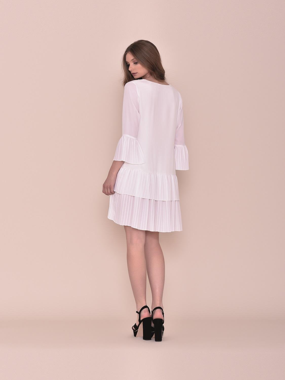 Vestido corto blanco fiesta verano 2020