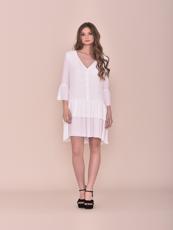 Vestido corto blanco fiesta verano