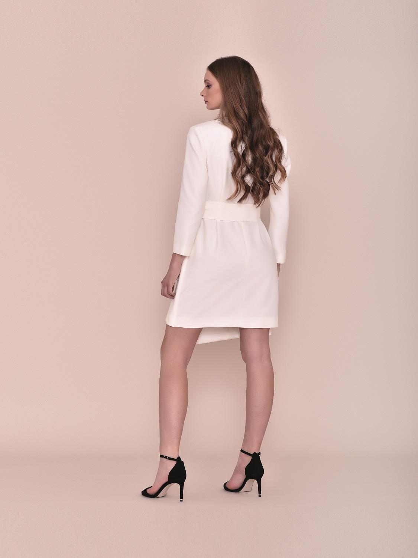 Vestido corto blanco juvenil fiesta 2020