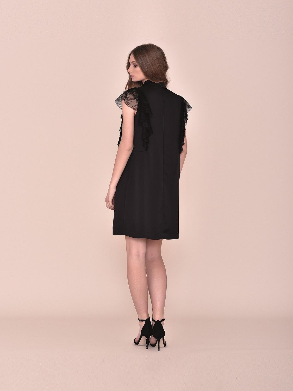 Vestido corto cóctel negro 2020