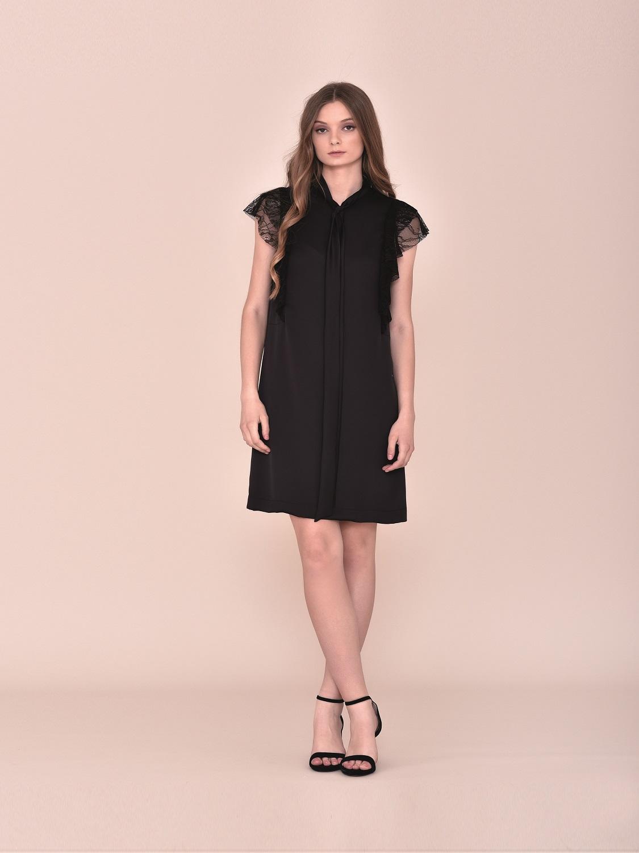 Vestido corto cóctel negro