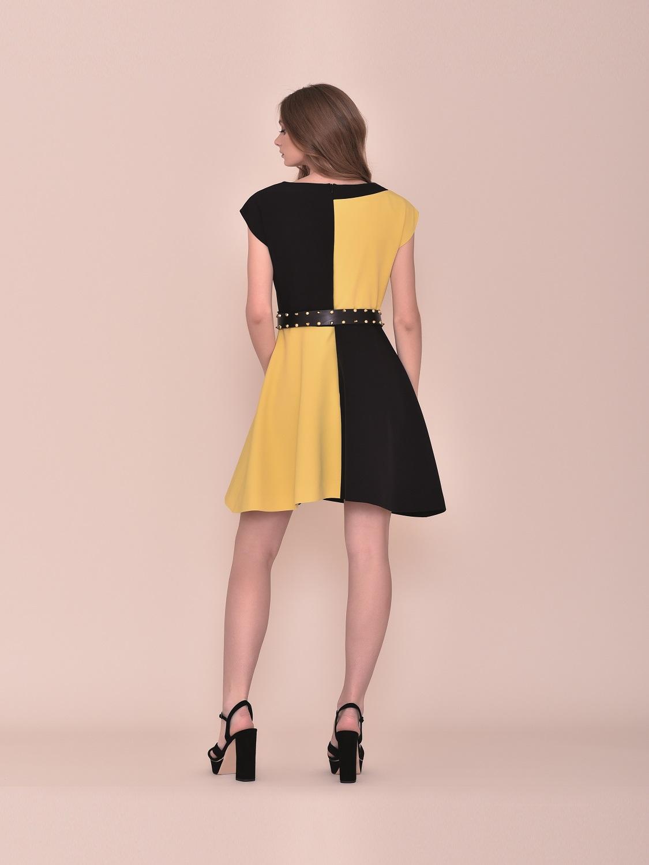 Vestido corto fiesta bicolor verano 2020