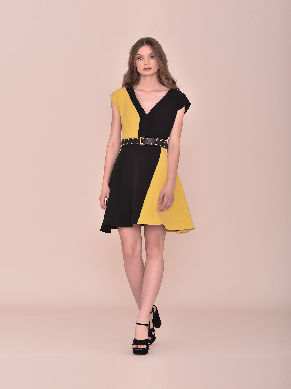 Vestido corto fiesta bicolor verano
