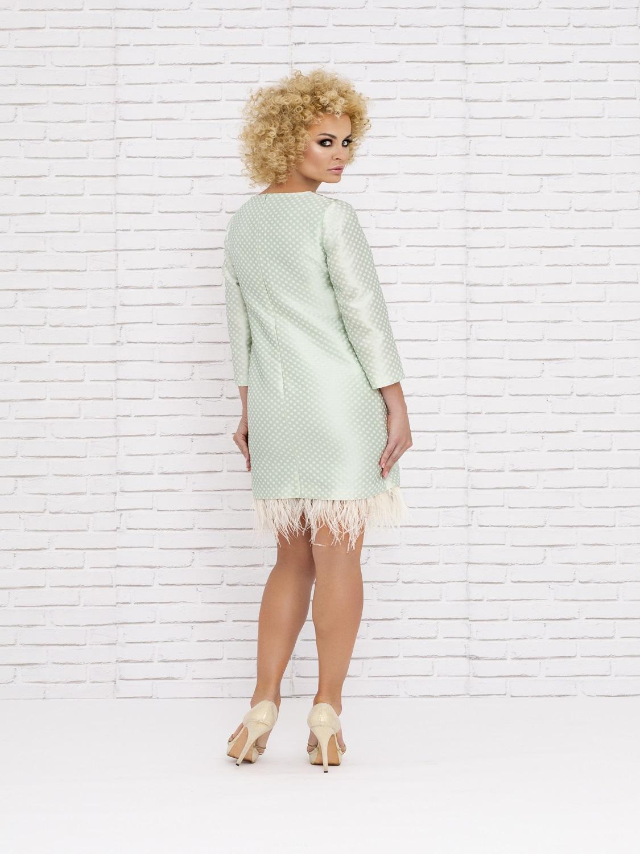 Vestido de cóctel de verano con plumas 2020