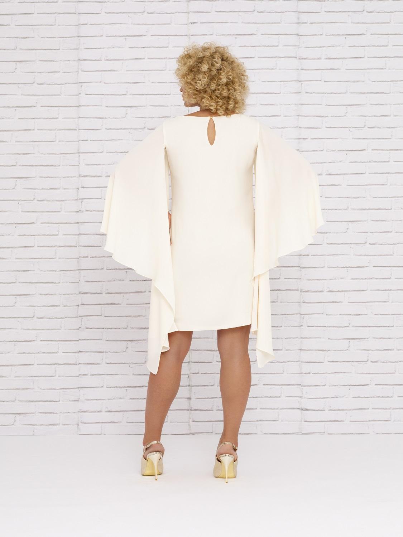 Vestido de fiesta corto con sobremangas verano 2020