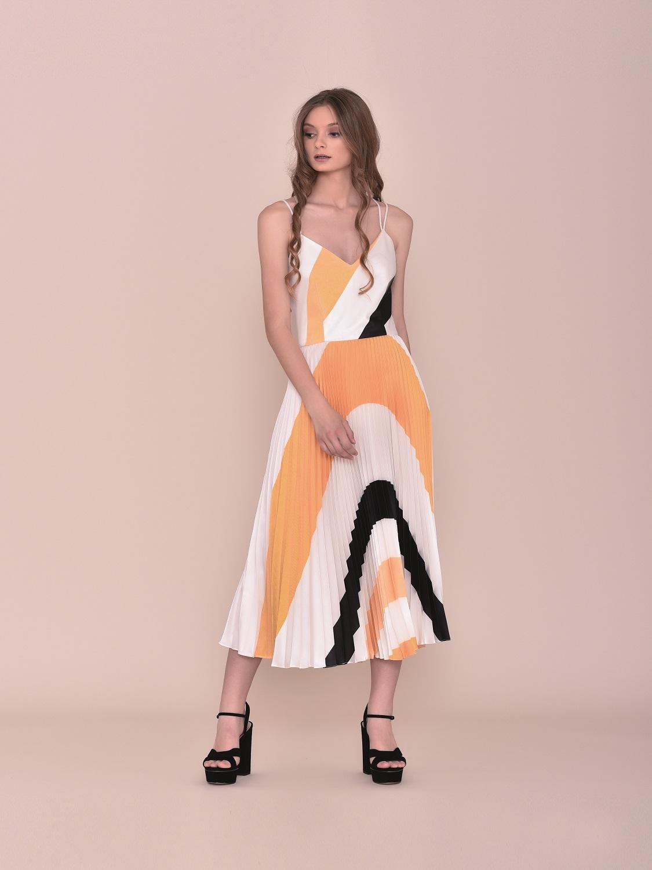 Vestido de fiesta tipo retro tricolor 2020
