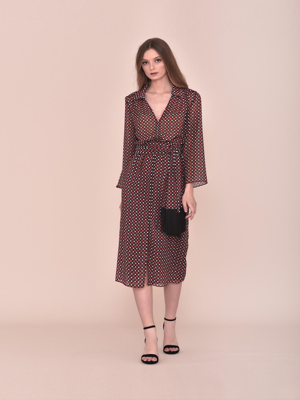 Vestido estilo retro midi 2020