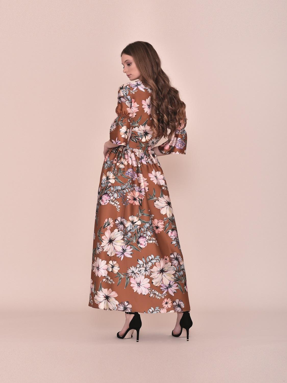 Vestido largo floral primavera 2020 juvenil