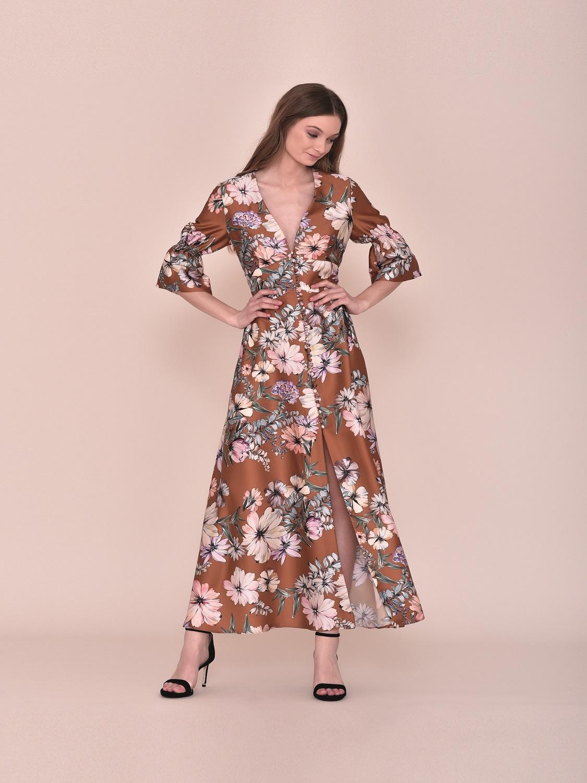 Vestido largo floral primavera 2020