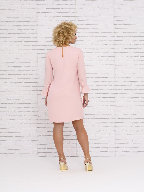 Vestido mamá de comunión con volante en rosa verano 2020