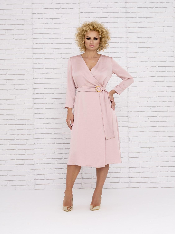 Vestido mamá de comunión en rosa palo 2020