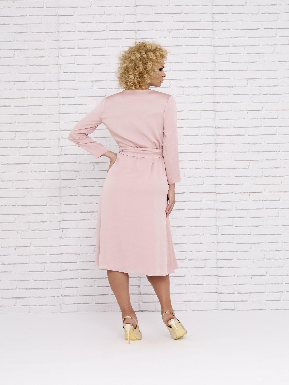 Vestido mamá de comunión en rosa palo primavera-verano 2020