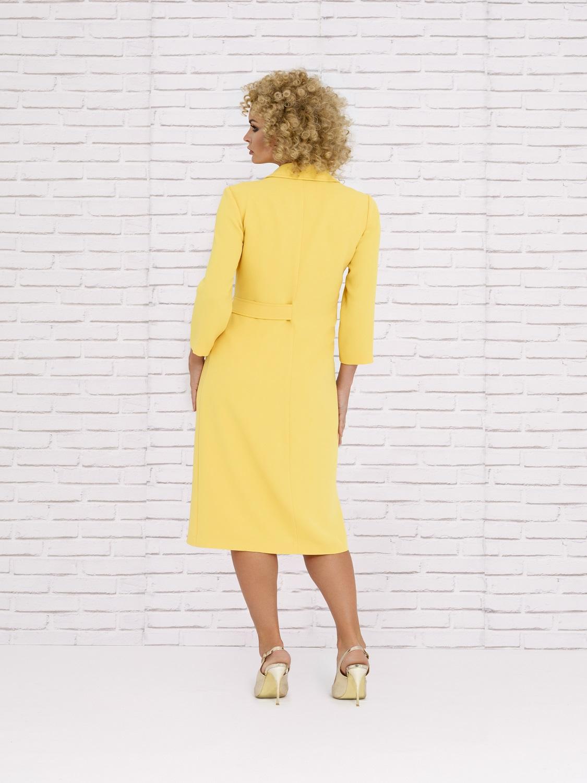 Vestido midi amarillo de primavera 2020