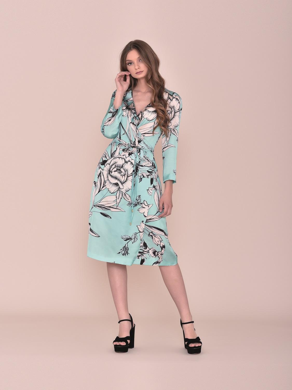 Vestido para comunión en turquesa con flores