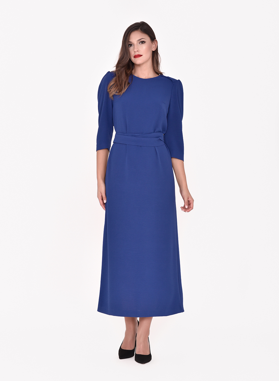 Vestido largo azulina