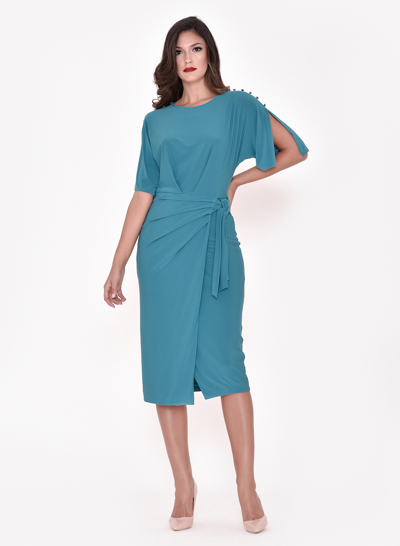 Vestido corto de punto para otoño