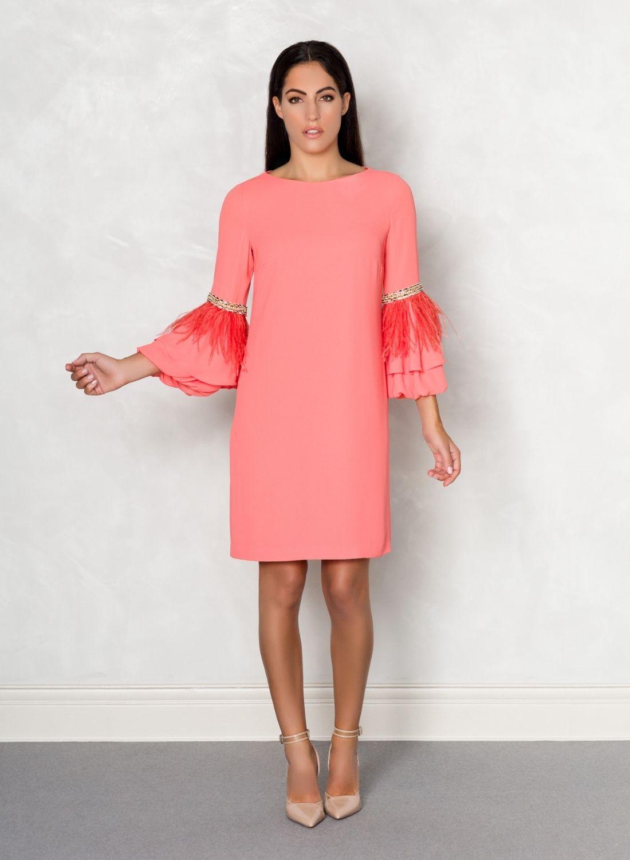 vestido coral suelto