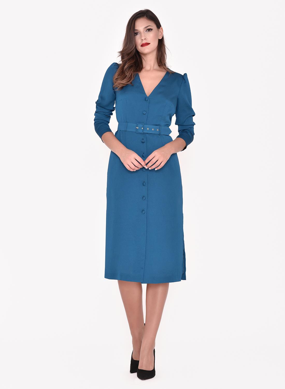 Vestido corto azulina