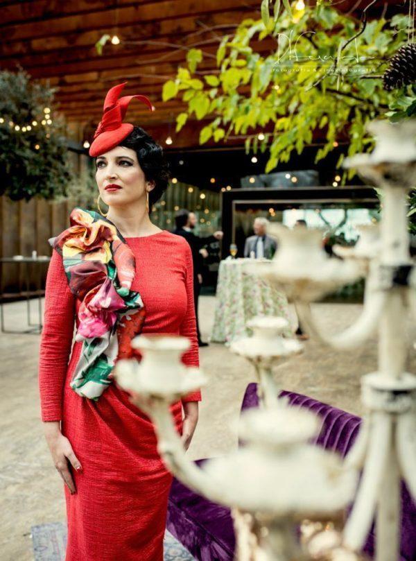 Vestido corto rojo para boda