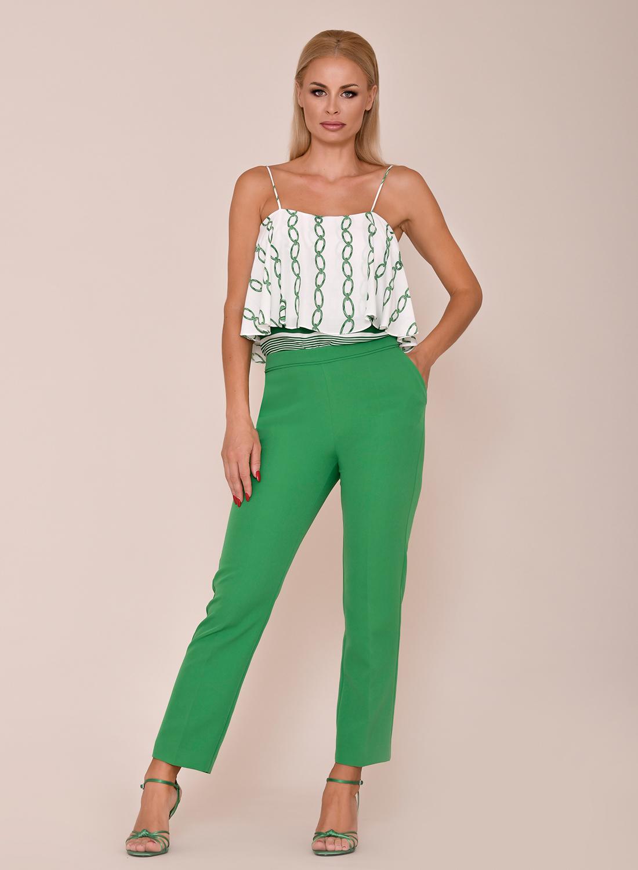 Pantalón entallado verde