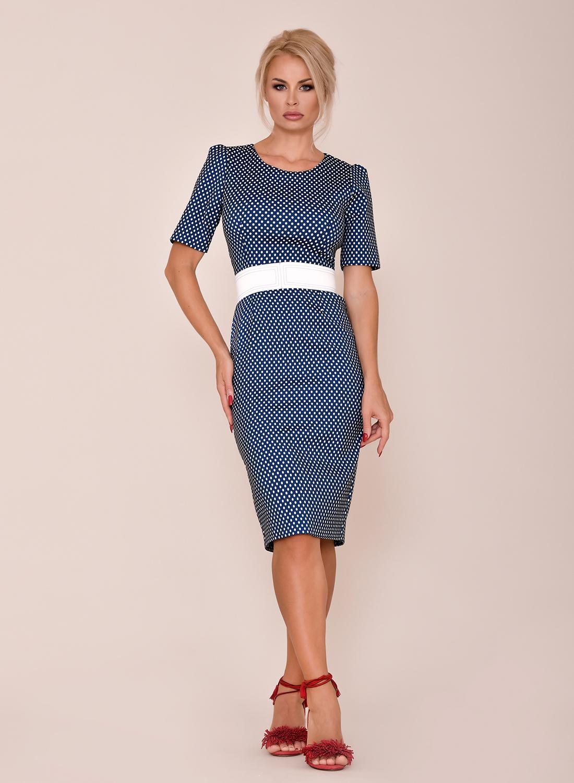 Vestido corto entallado azul
