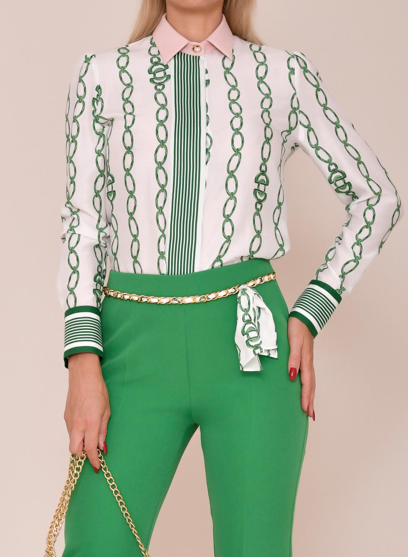 camisa estampado cadenas