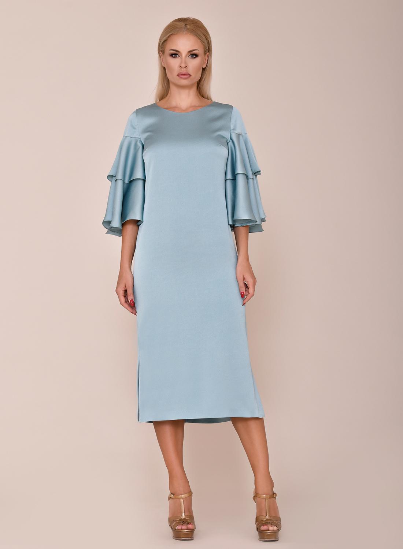 Vestido azul para bodas