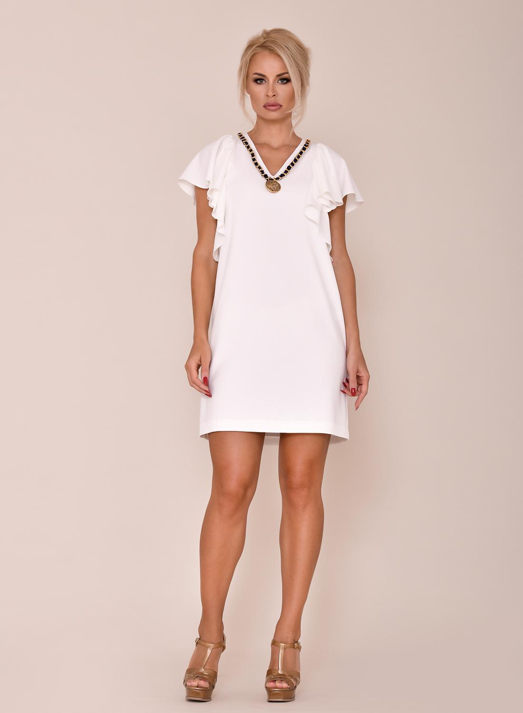 vestido corto blanco para comuniones
