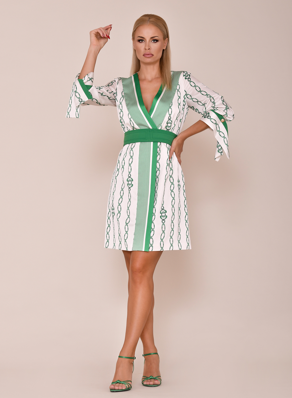 vestido cruzado para comunión