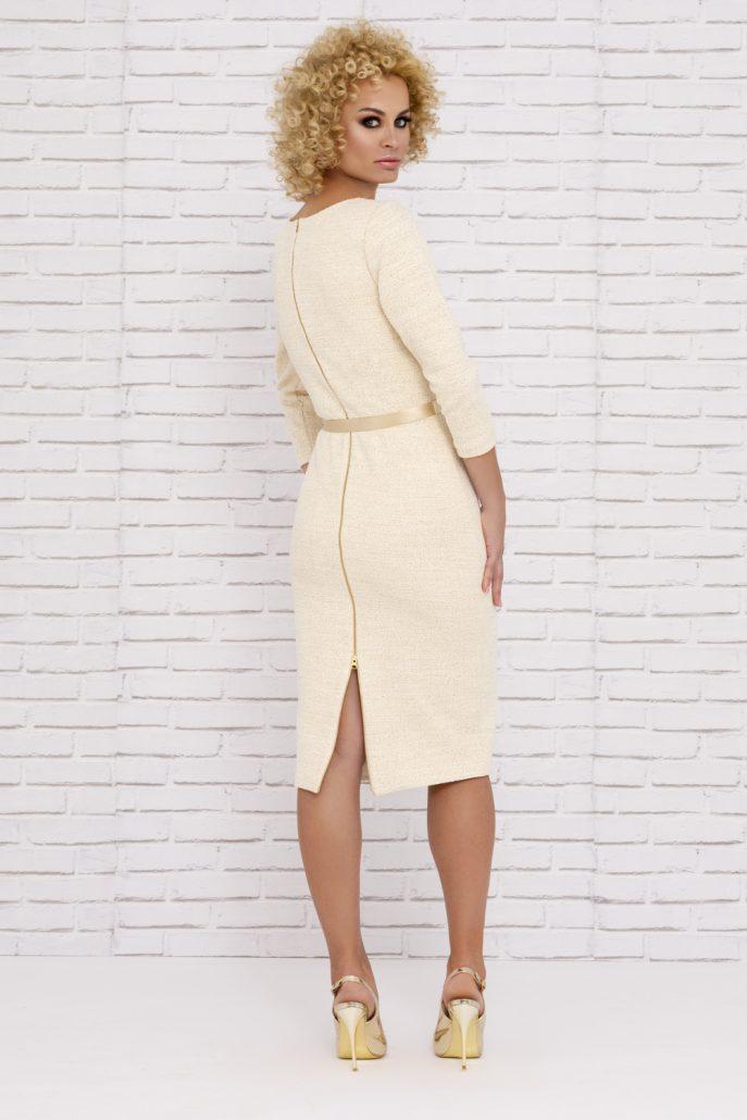 Vestido corto beig elegante para comunión